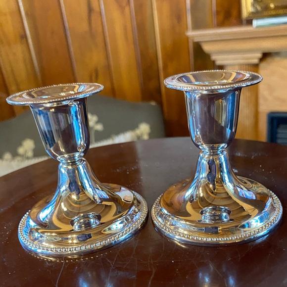 Vintage silver plated candle sticks Elegant Living
